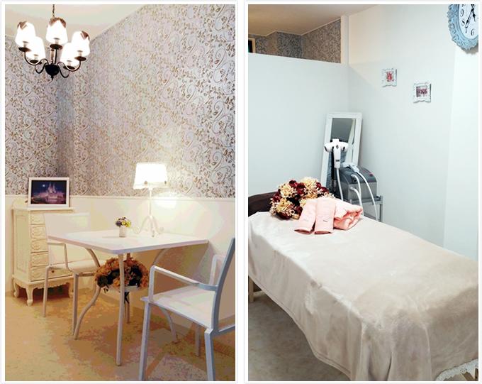 カウンセリングルーム 、施術ベッド写真