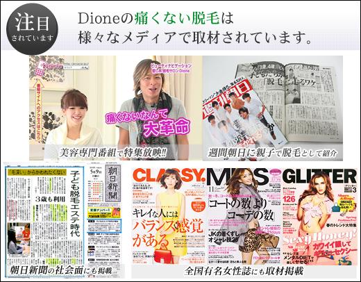 新聞や雑誌、テレビに取材された実績