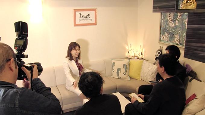 ブランド創出の極意 インタビューの様子
