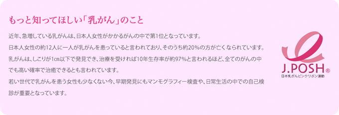 認定NPO法人J.POSH【日本乳がんピンクリボン運動】への参加